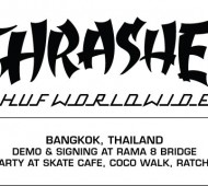 HUF X Thrasher Stoops Asia Tour 2014. Bangkok demo and signing