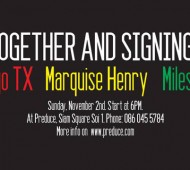 Get together and signing with Rodrigo TX Marquise Henry and Miles Silvas