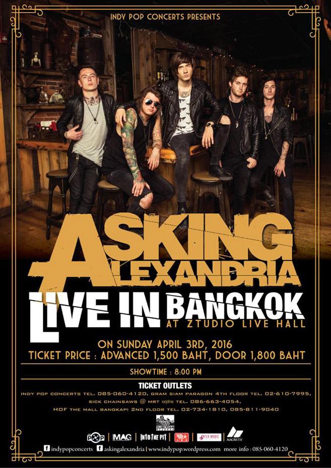 Asking Alexandria live in Bangkok 2016
