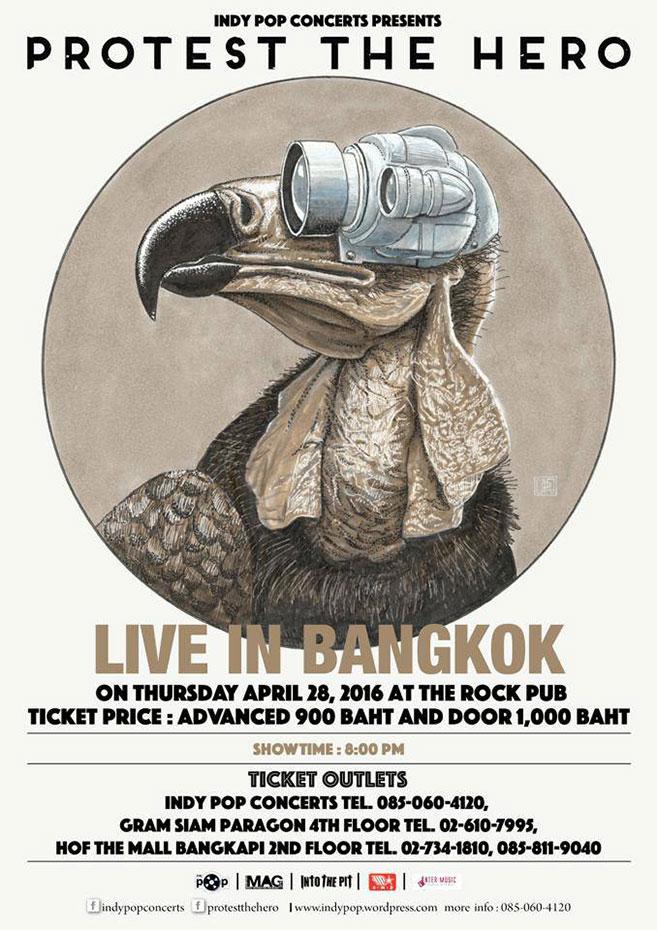 Protest The Hero live in Bangkok 2016